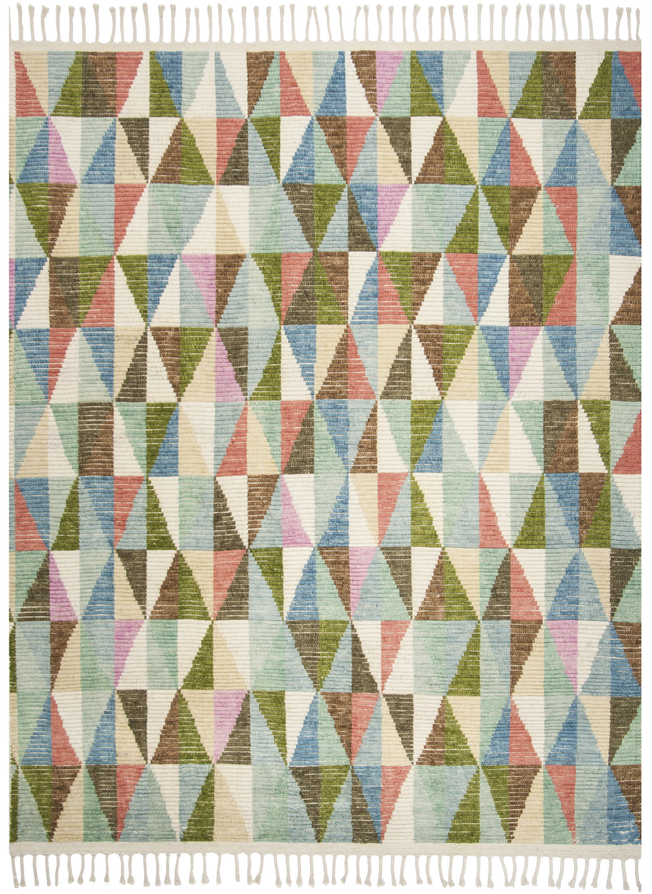 Lohan Hand-Knotted Green/Blue Area Rug Rug Size: Rectangle 8' x 10'