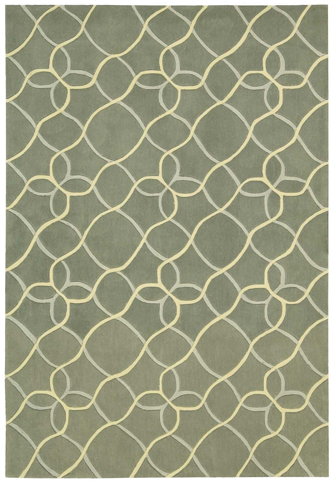Venable Handmade Sage/Beige Area Rug Rug Size: Rectangle 7'3