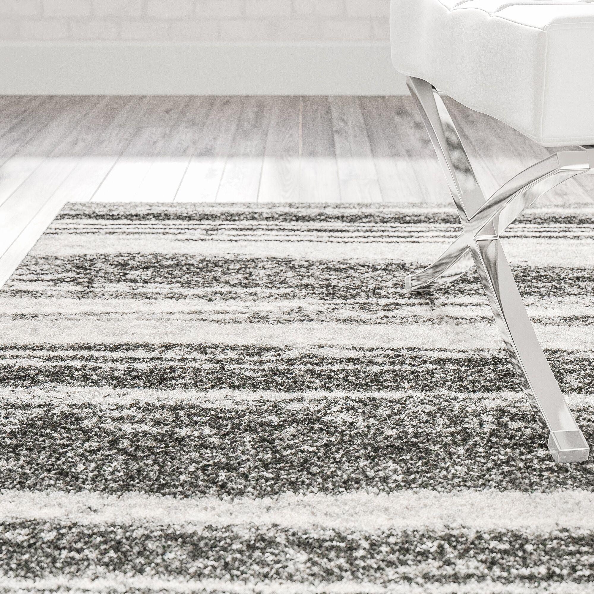 Aislinn Dark Grey / Light Grey Area Rug Rug Size: Rectangle 8'9