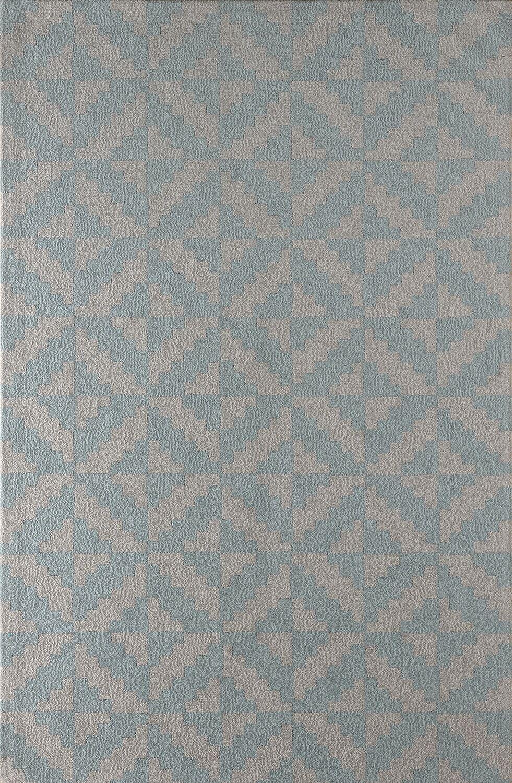 Hisey Hand-Tufted Sky Area Rug Rug Size: Rectangle 6' x 9'
