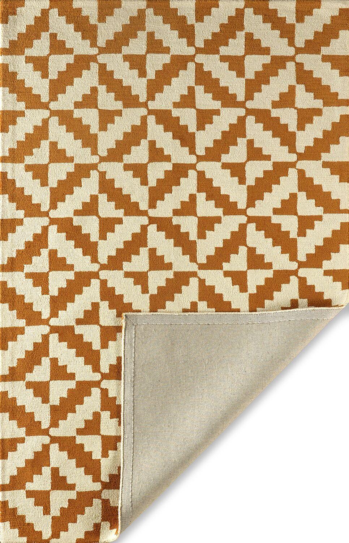 Hisey Hand-Tufted Sorrel Area Rug Rug Size: Rectangle 5' x 8'
