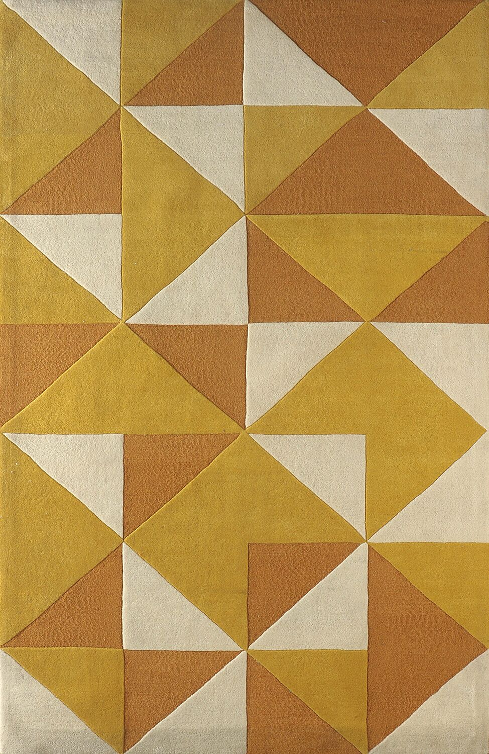 Lueras Hand-Tufted Gold/Ivory Area Rug Rug Size: Rectangle 6' x 9'