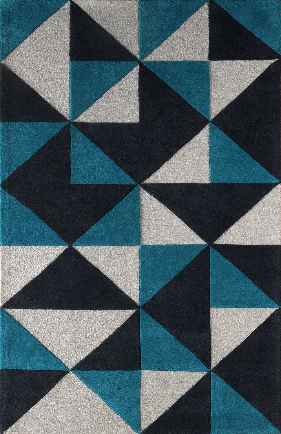 Lueras Hand-Tufted Gray/Blue Area Rug Rug Size: Rectangle 8' x 10'