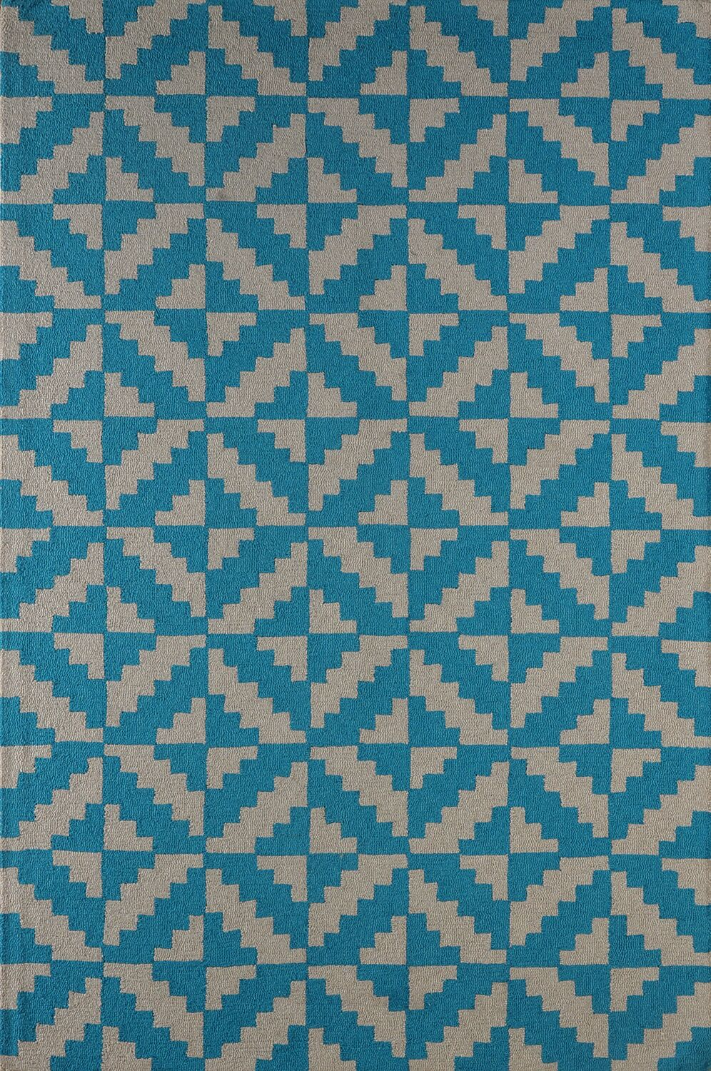 Hisey Hand-Tufted Teal Area Rug Rug Size: Rectangle 5' x 8'