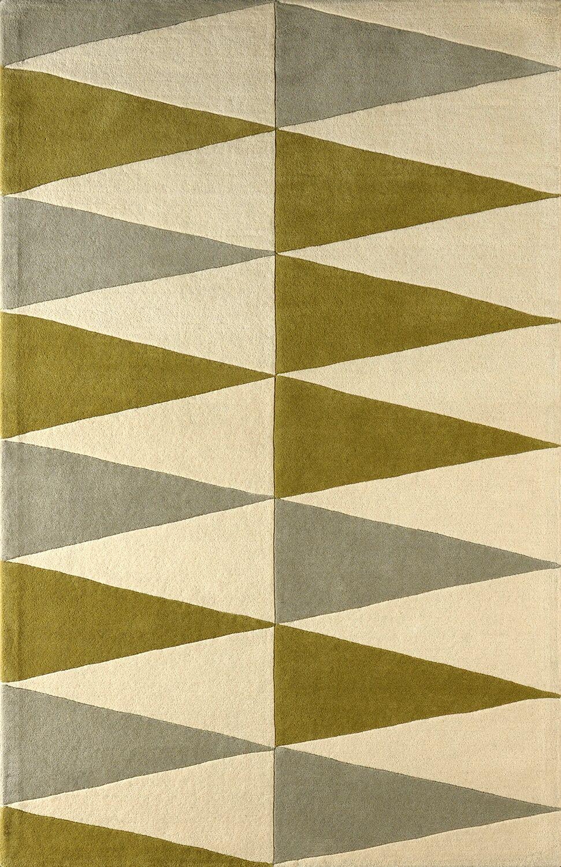 Hisle Hand-Tufted Ivory/Pear Area Rug Rug Size: Rectangle 4' x 6'
