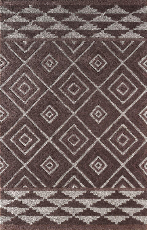 Luevano Hand-Tufted Dark Iris Area Rug Rug Size: Rectangle 8' x 10'