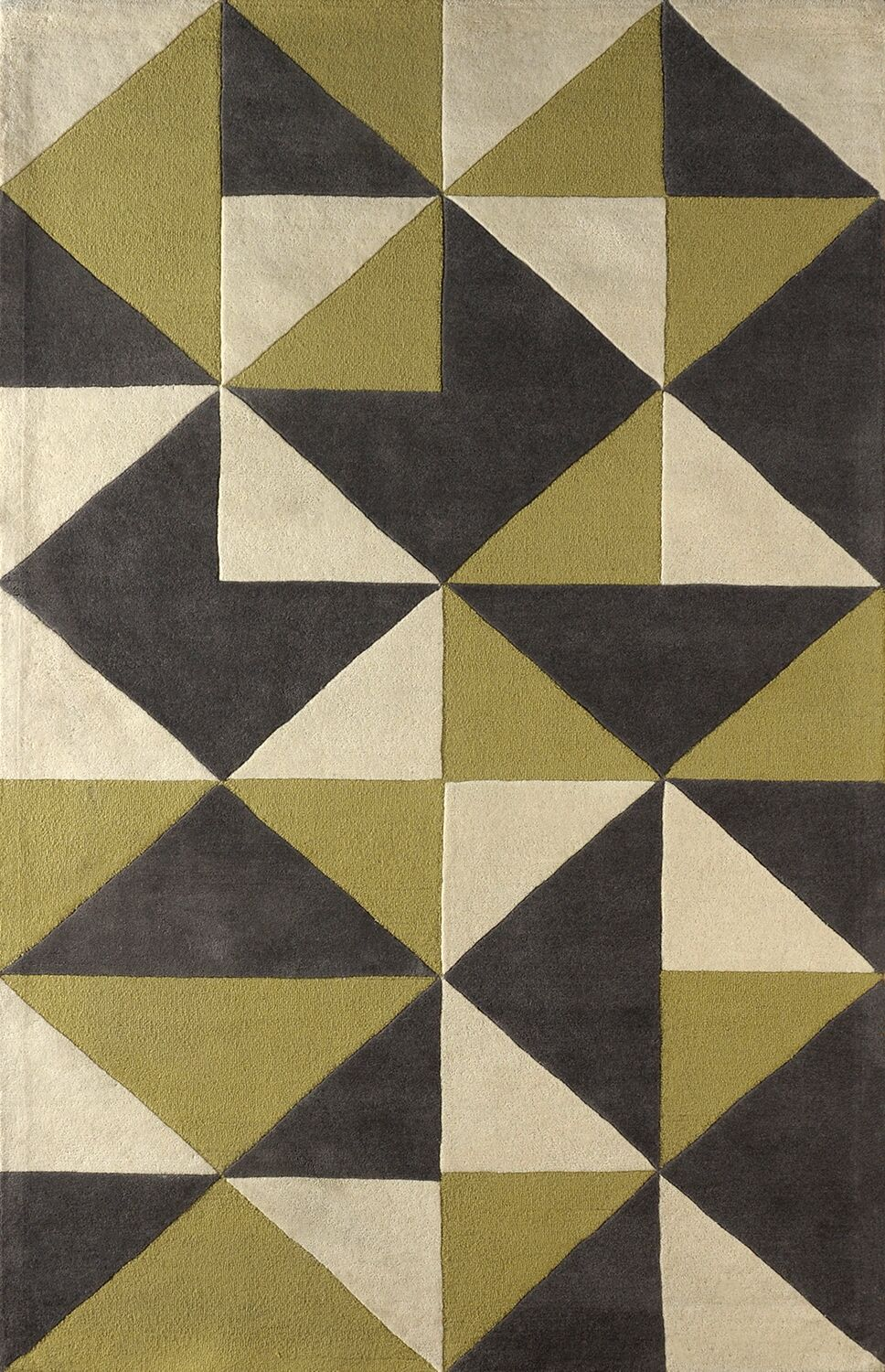 Lueras Hand-Tufted Pear/Ivory Area Rug Rug Size: Rectangle 5' x 8'