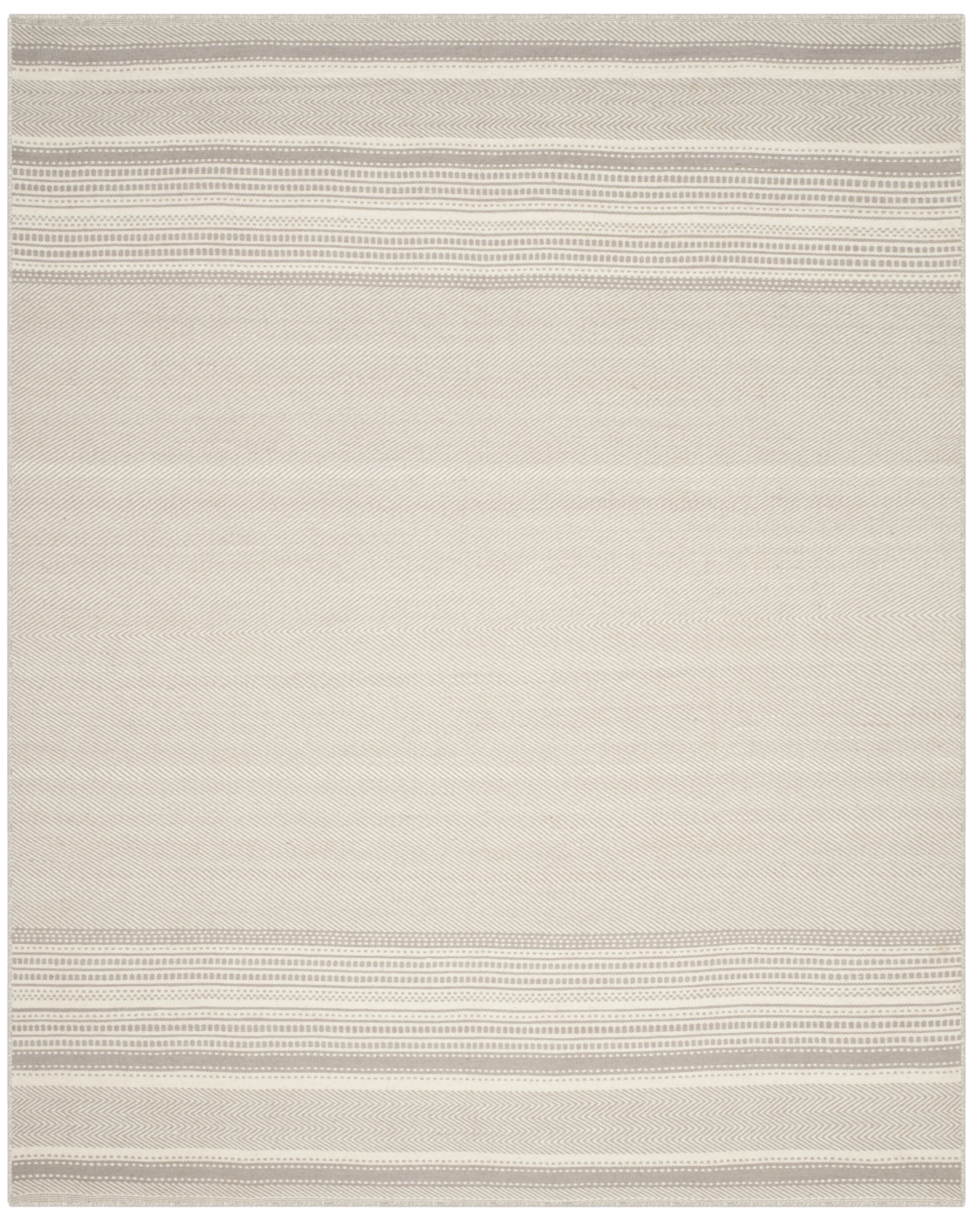 Butters Hand-Woven Grey/Ivory Area Rug Rug Size: Rectangle 8' x 10'