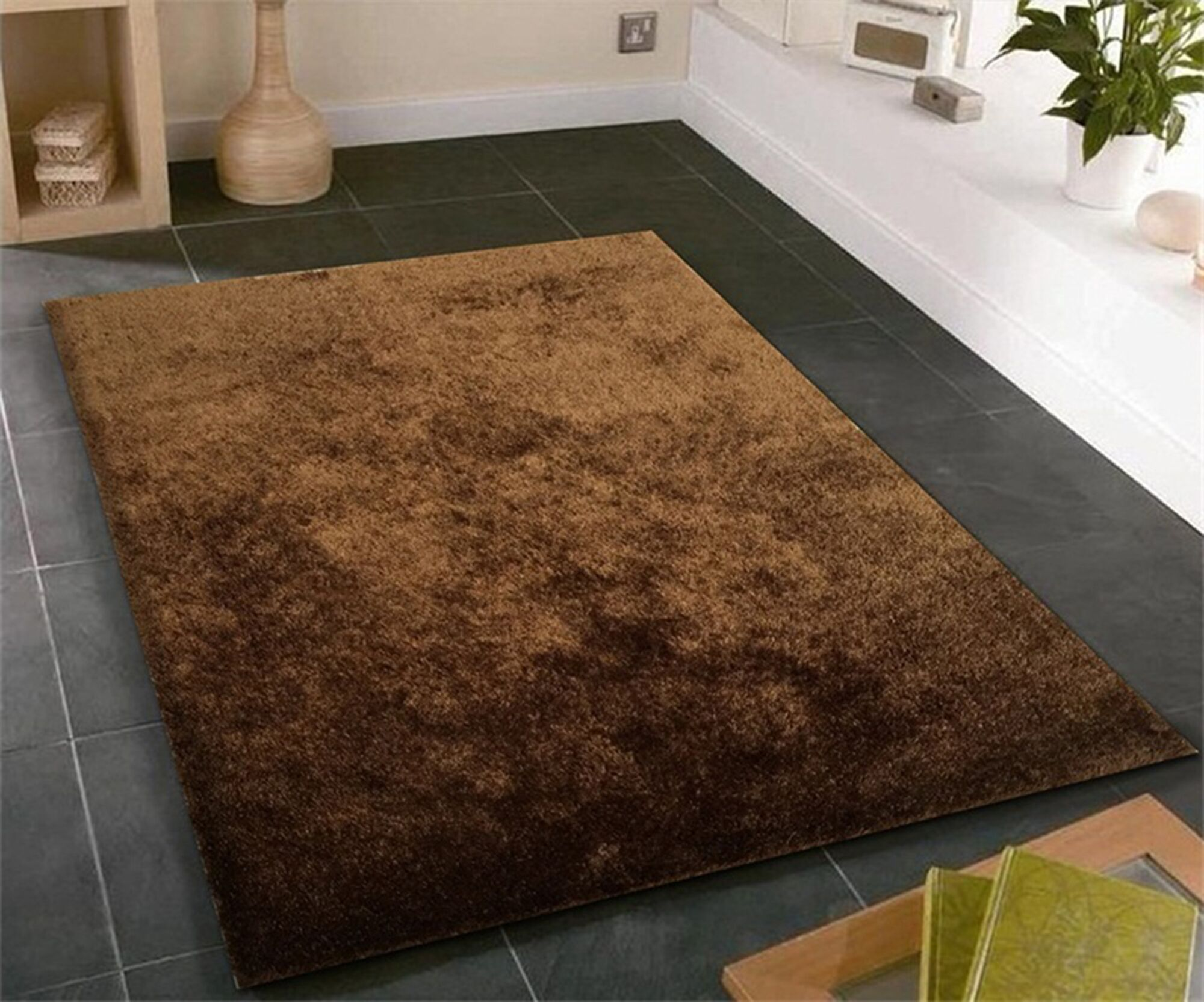 William Street Hand-Knotted Brown Area Rug