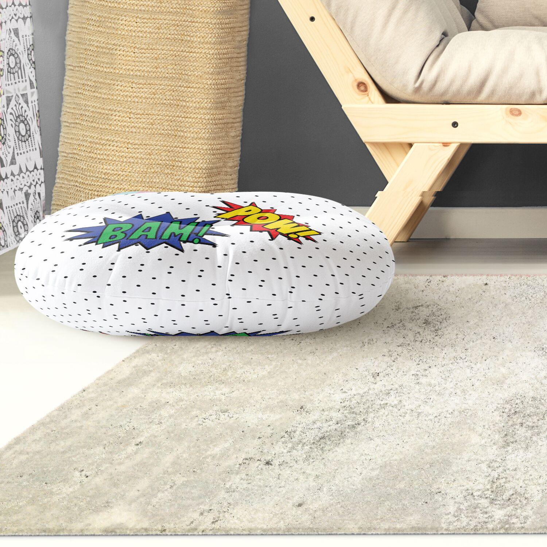 Steffen Pow And Bam Outdoor Floor Pillow Size: 26