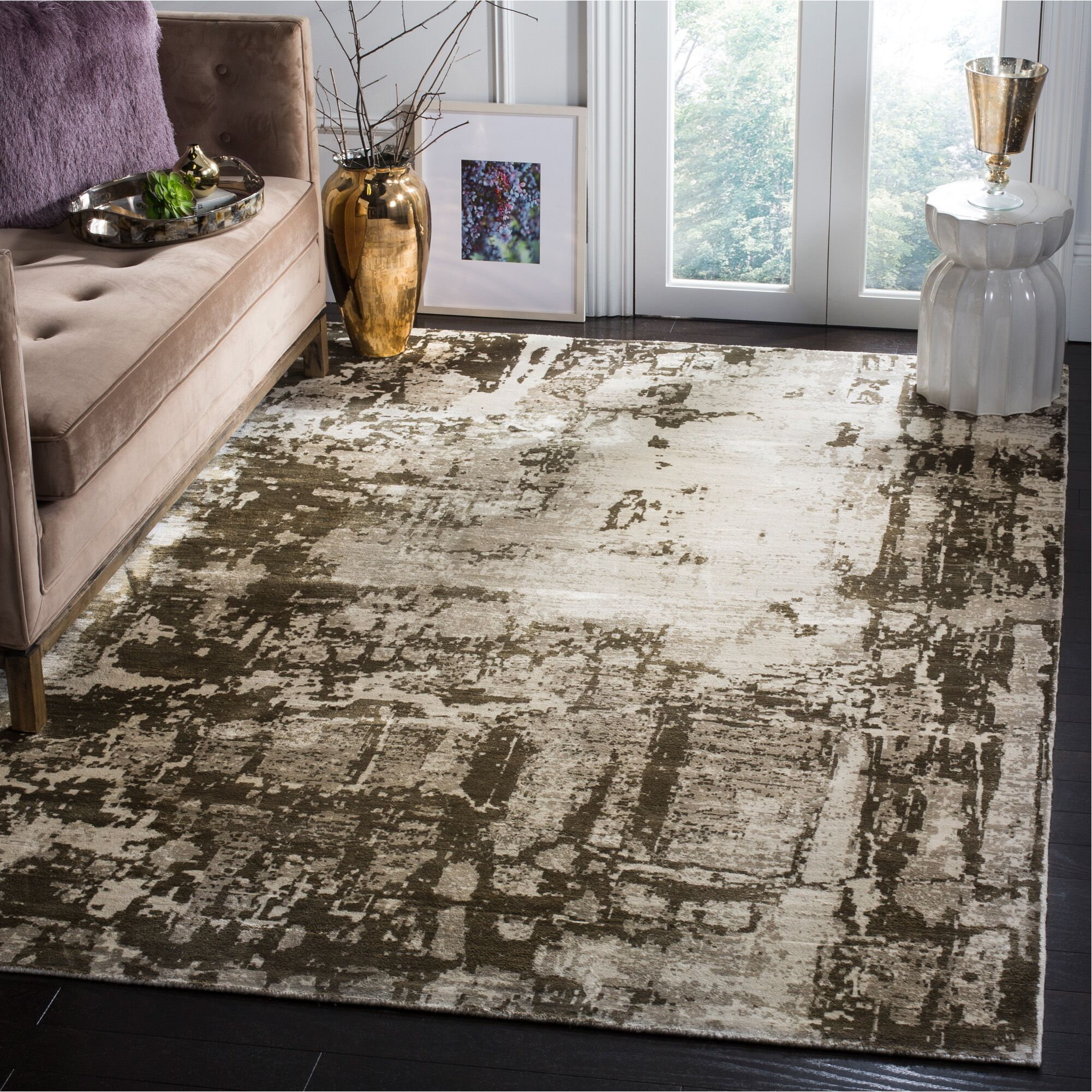 Maxim Hand Woven Brown Area Rug Rug Size: Rectangle 9' x 12'