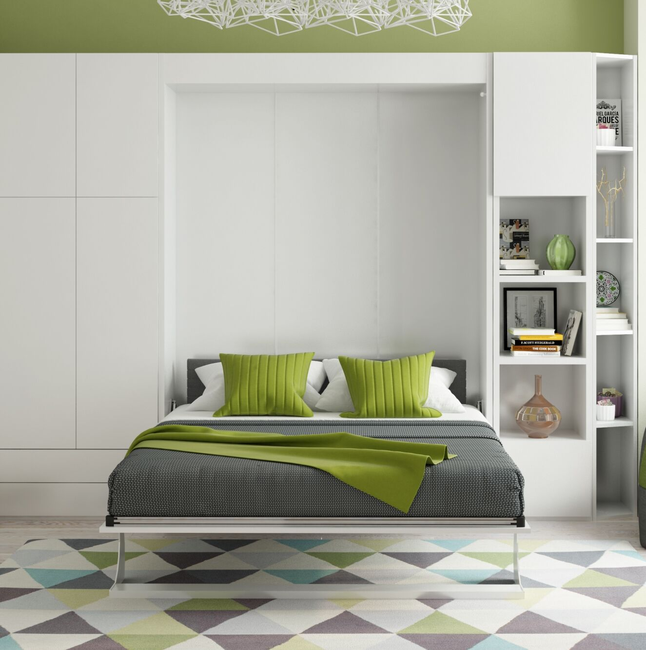 Gautreau Queen Murphy Bed Color: Gloss White