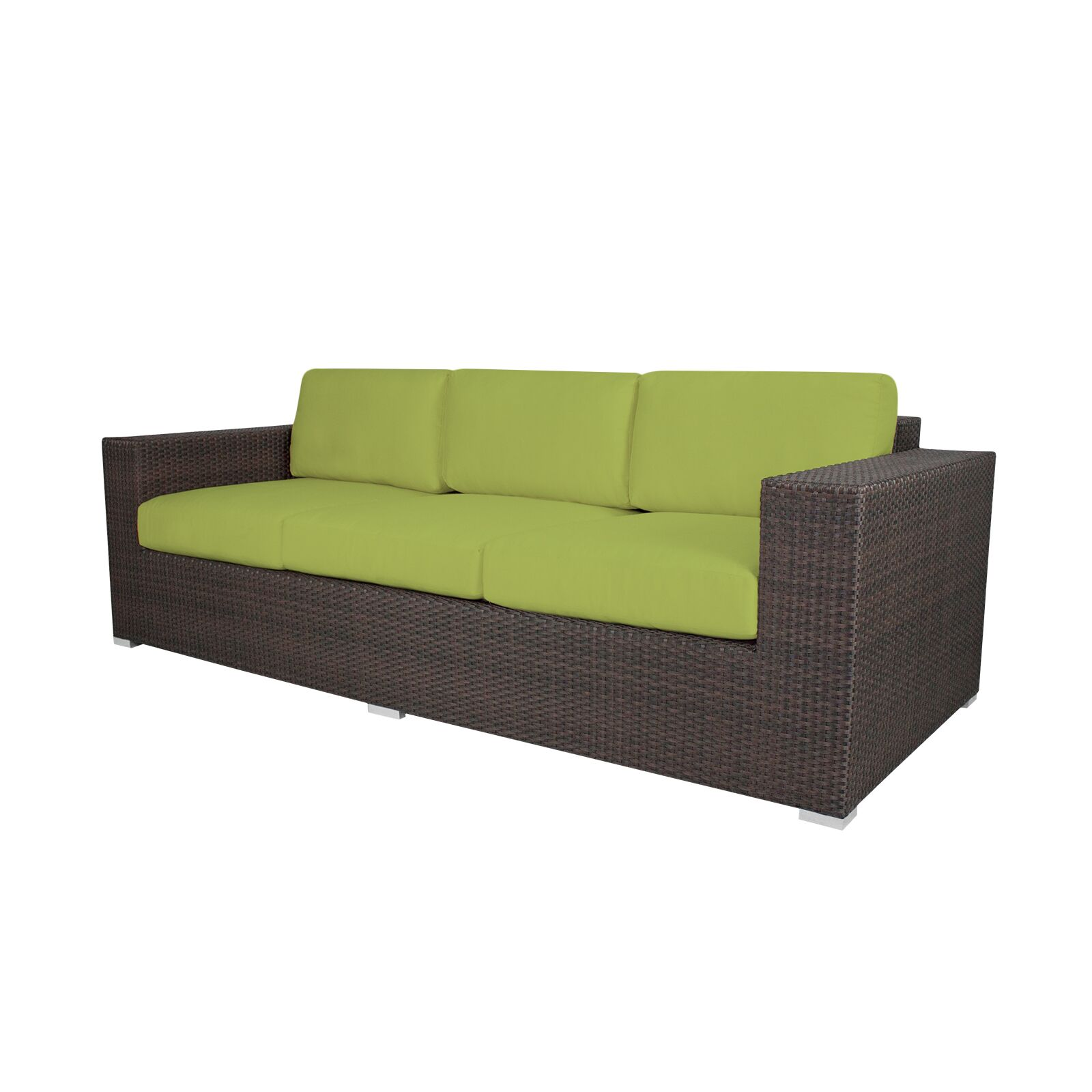 Ropp Patio Sofa with Cushions Color: Sunbrella Parrot