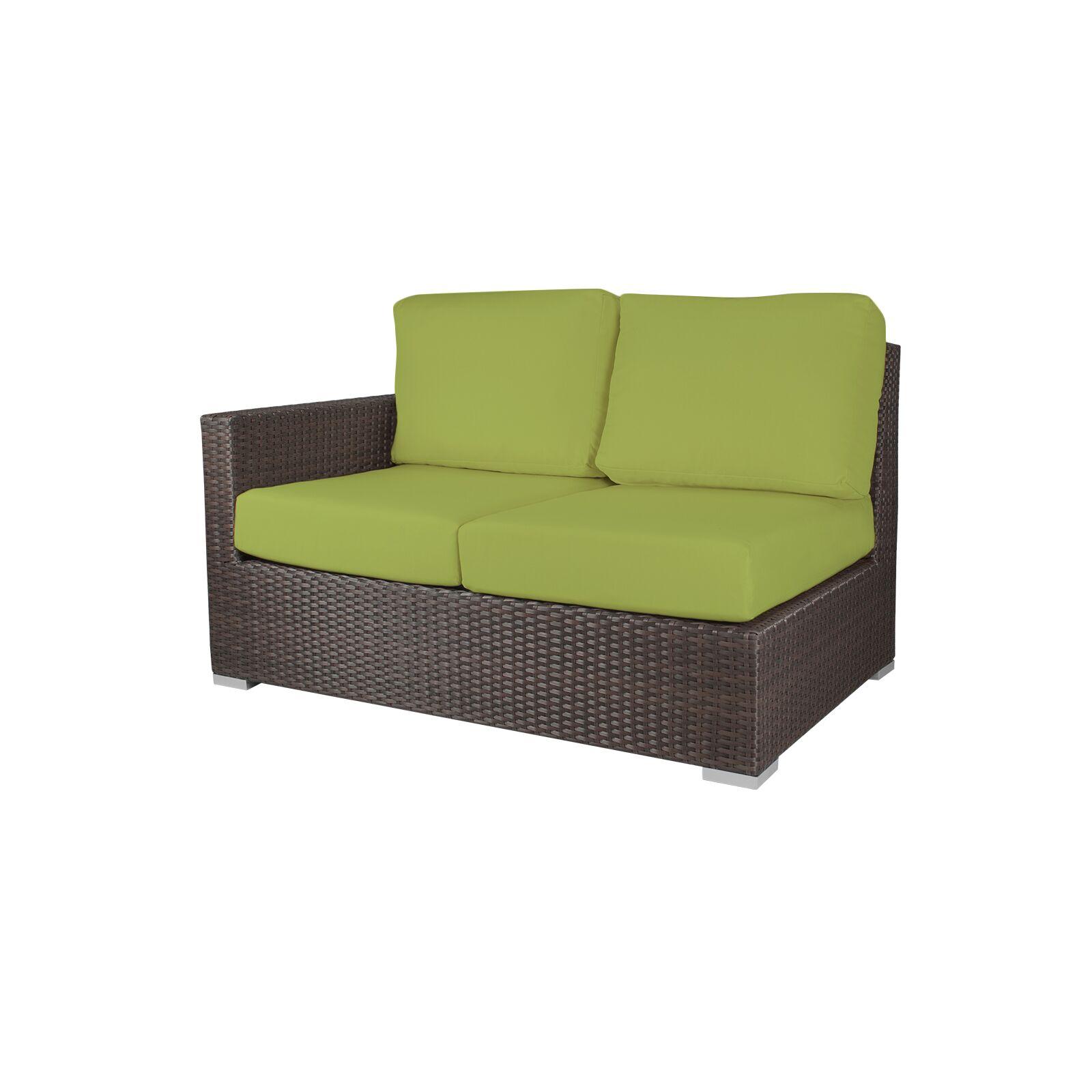 Ronning Patio Sofa with Cushions Fabric: Sunbrella Parrot