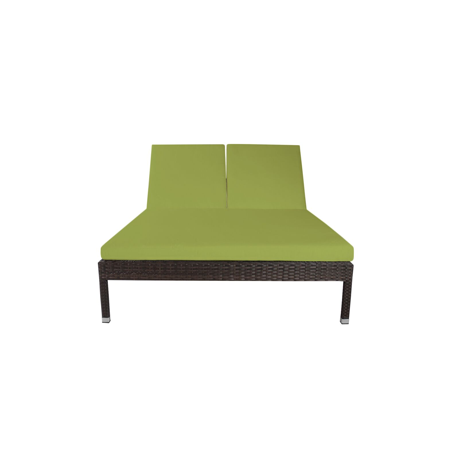 Roque Double Chaise Lounge with Cushion Fabric Color: Sunbrella Parrot