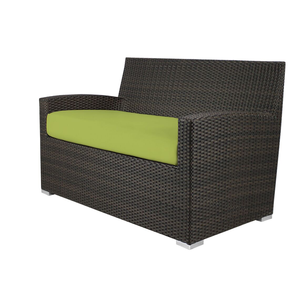 Roose Loveseat with Cushion Fabric: Sunbrella Parrot