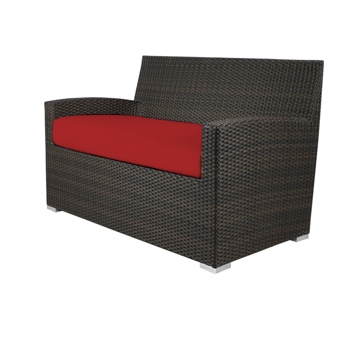 Roose Loveseat with Cushion Fabric: Sunbrella Jockey Red