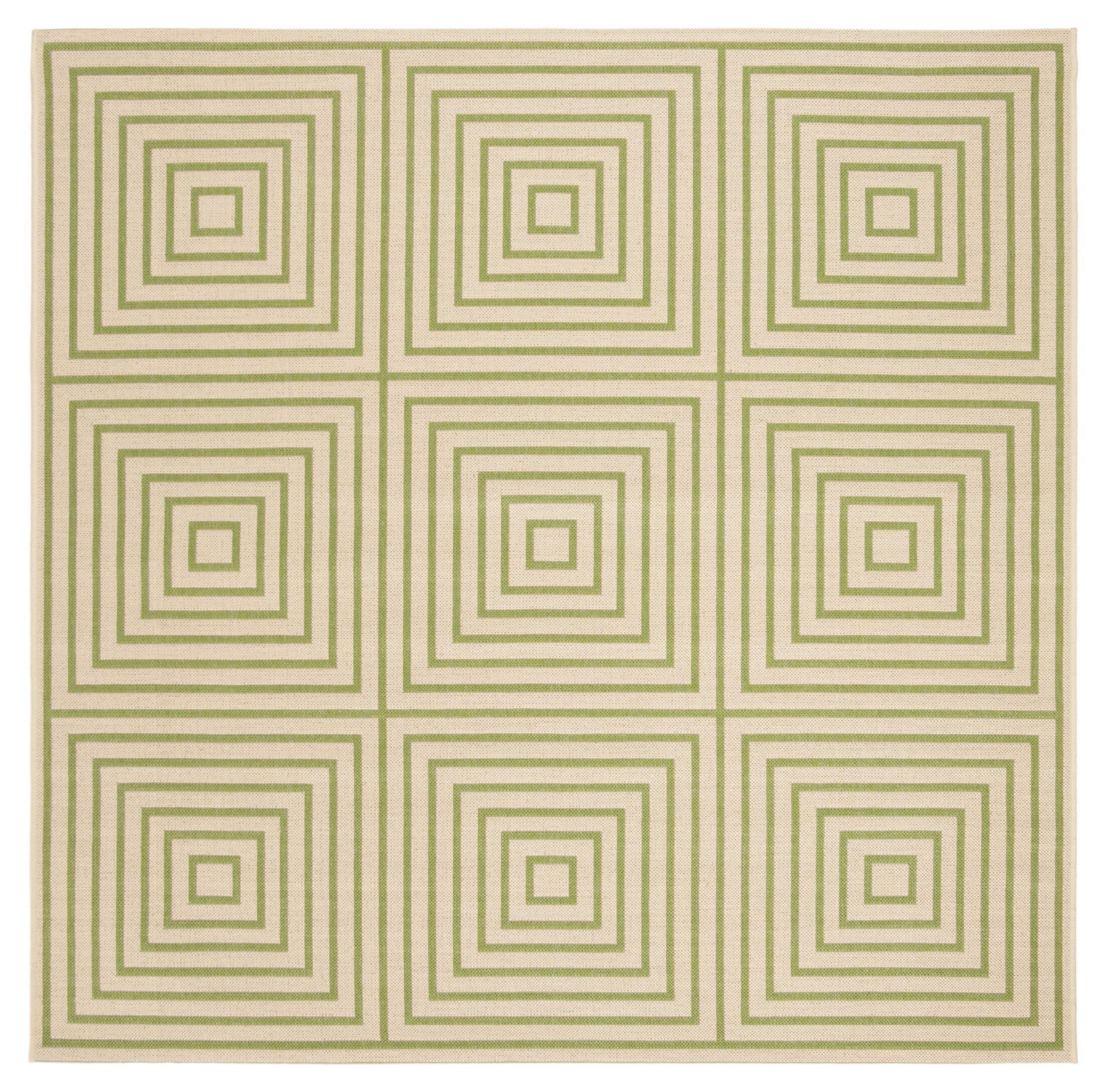 Horne Cream/Olive Area Rug Rug Size: Square 6'7