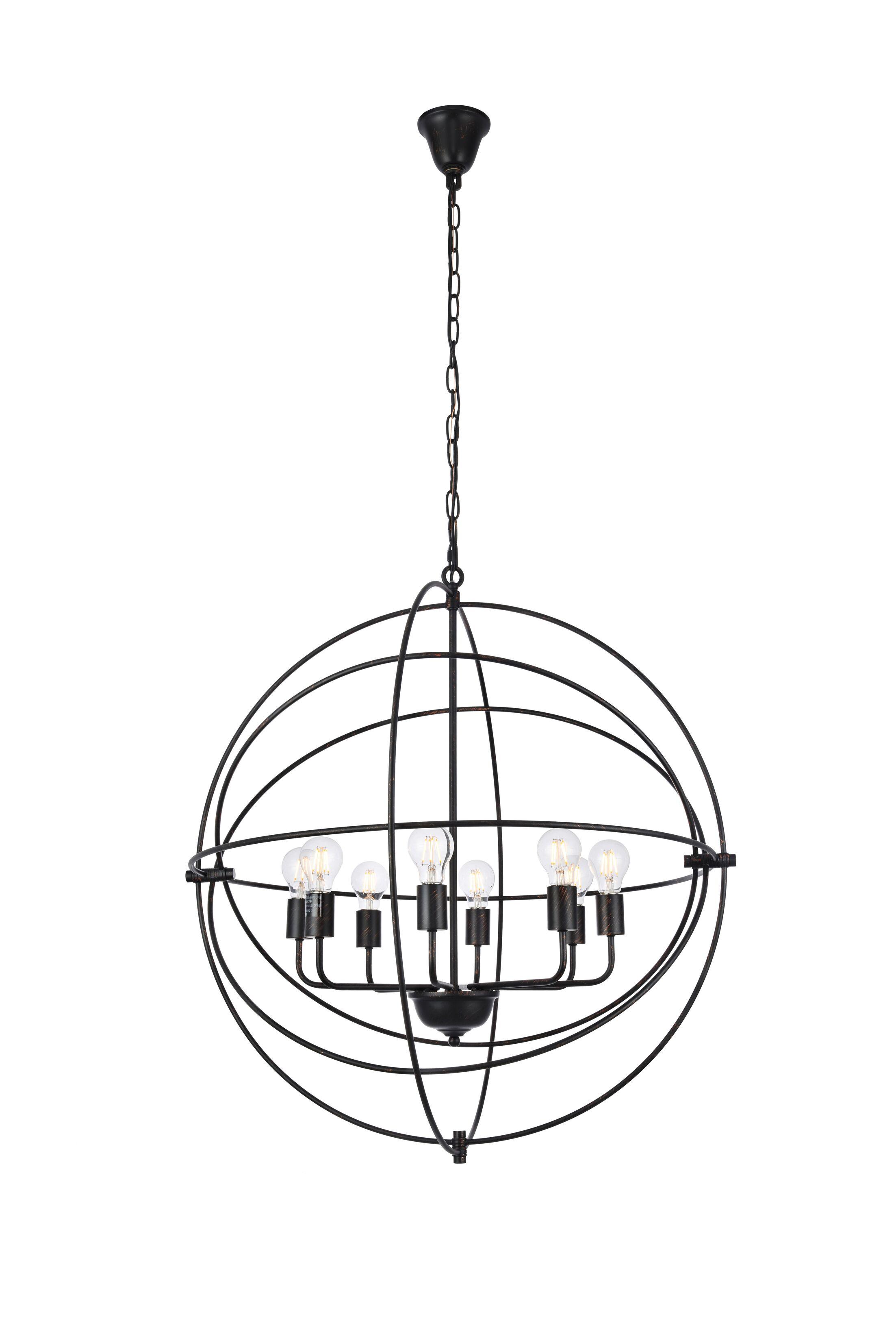 Hamby 8-Light Pendant Finish: Dark Bronze