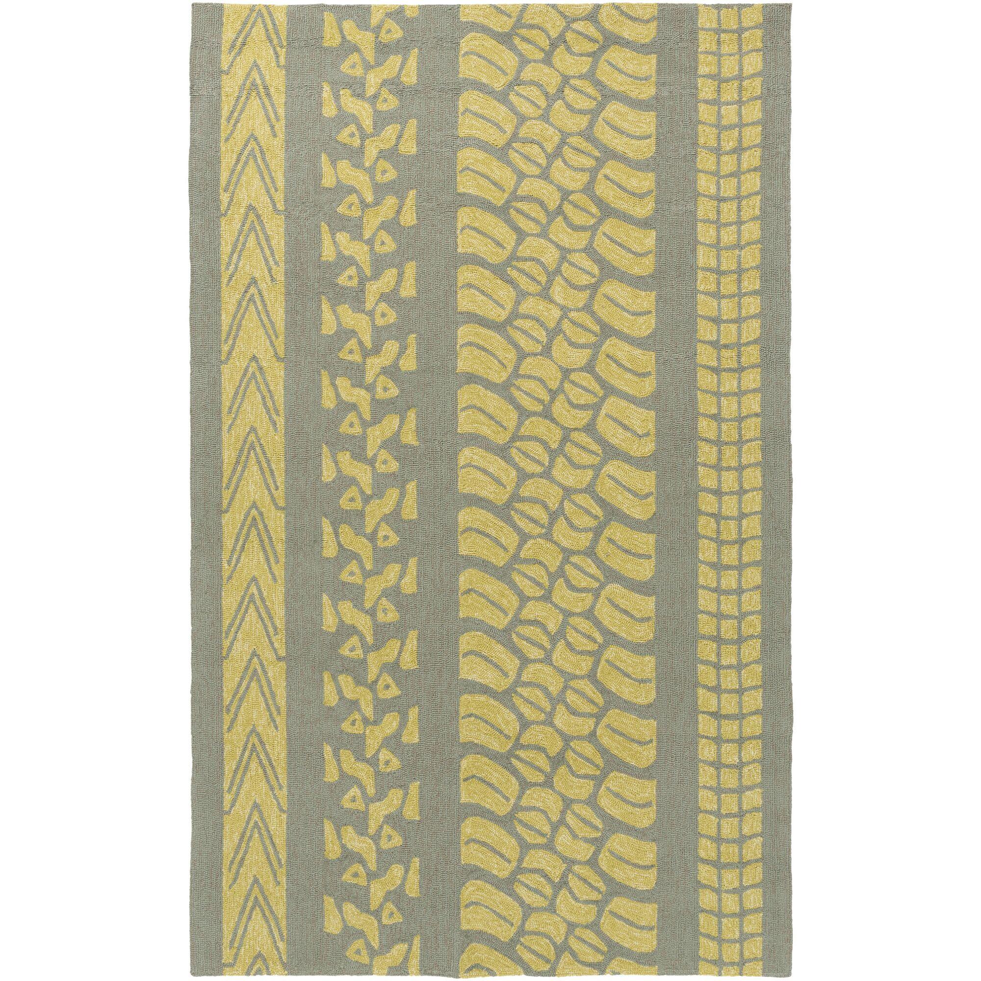 Boles Gold/Moss Indoor/Outdoor Area Rug Rug Size: Rectangle 9' x 12'