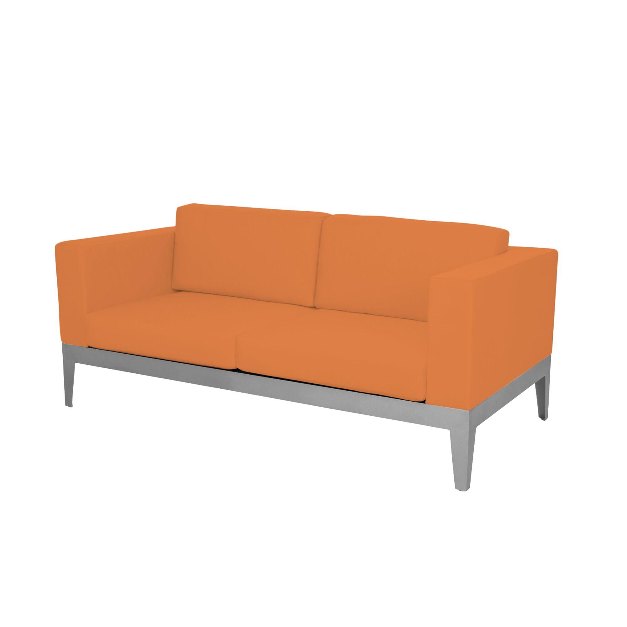 Angelina Loveseat with Cushion Fabric: Sunbrella Tangerine