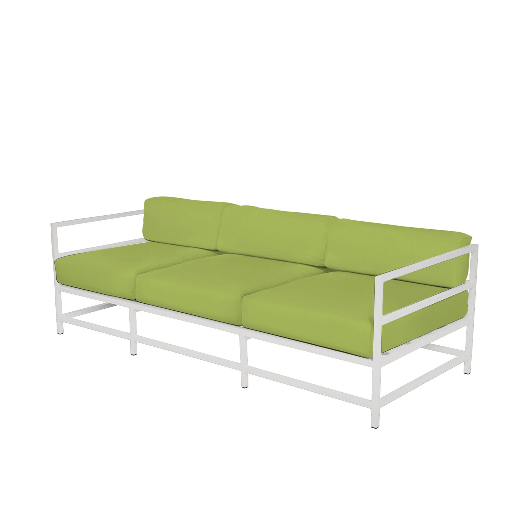Ashlee Sofa with Cushions Fabric: Sunbrella Parrot