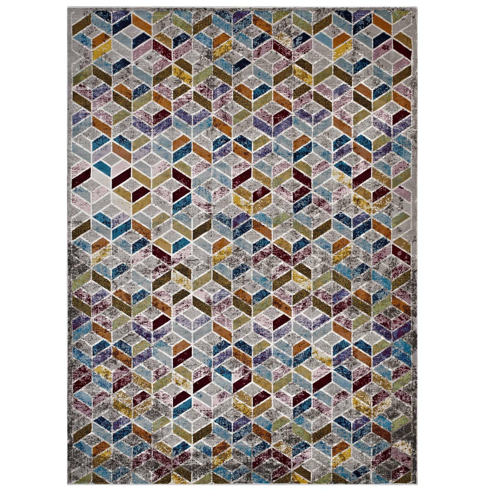 Edmore Gray/Purple Area Rug Rug Size: Rectangle 4' x 6'