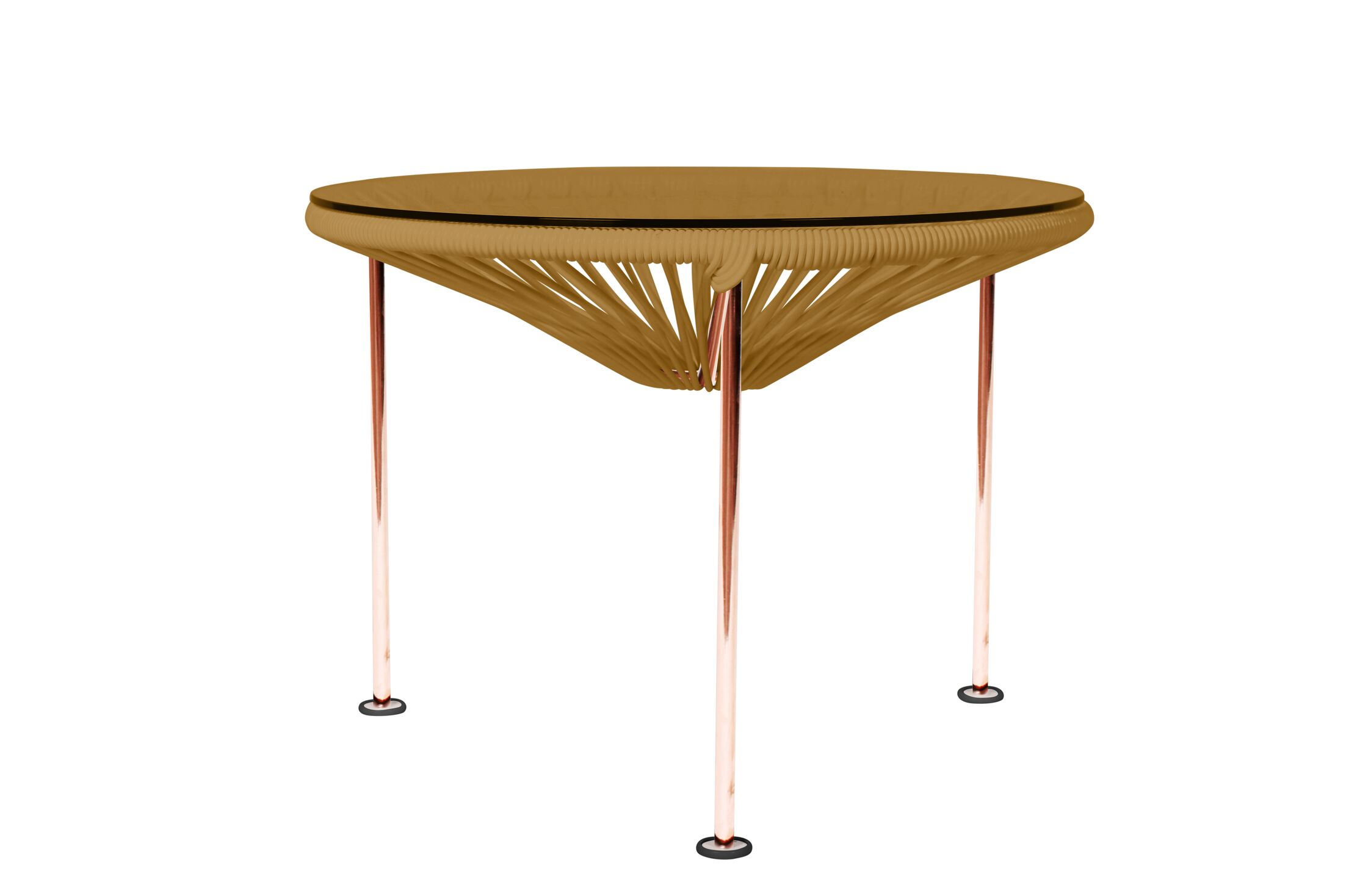Cobby End Table Table Base Color: Copper, Table Top Color: Gold