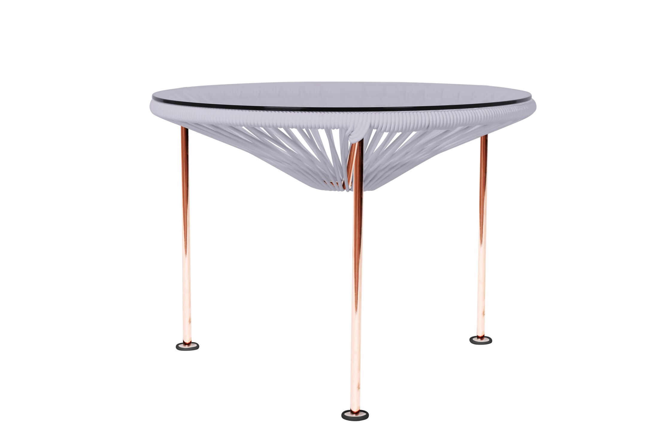 Cobby End Table Table Base Color: Copper, Table Top Color: Clear