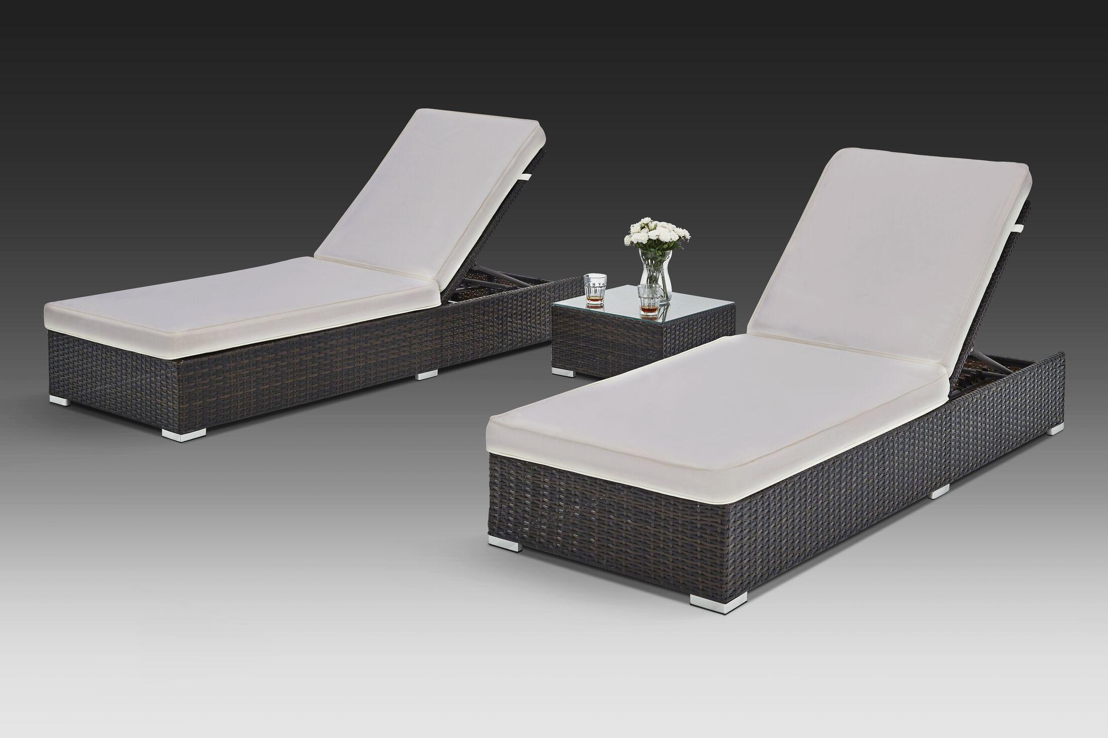Putney 3 Piece Chaise Lounge Set
