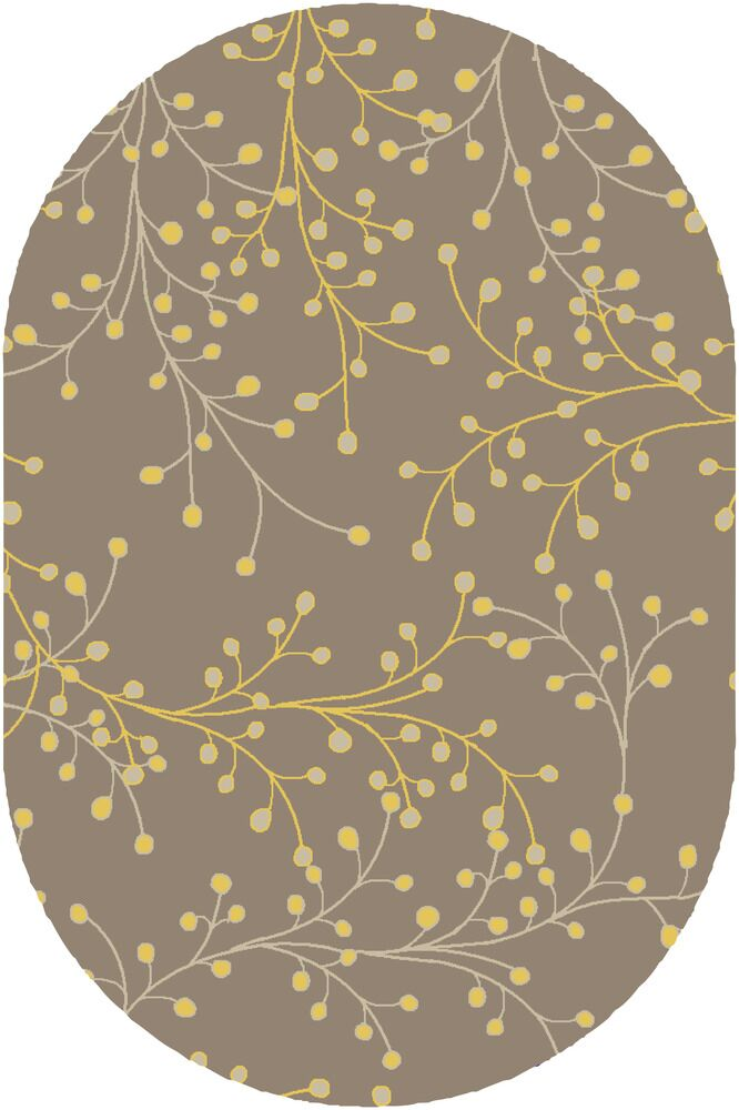 Middlebrooks Medium Gray Area Rug Rug Size: Oval 6' x 9'