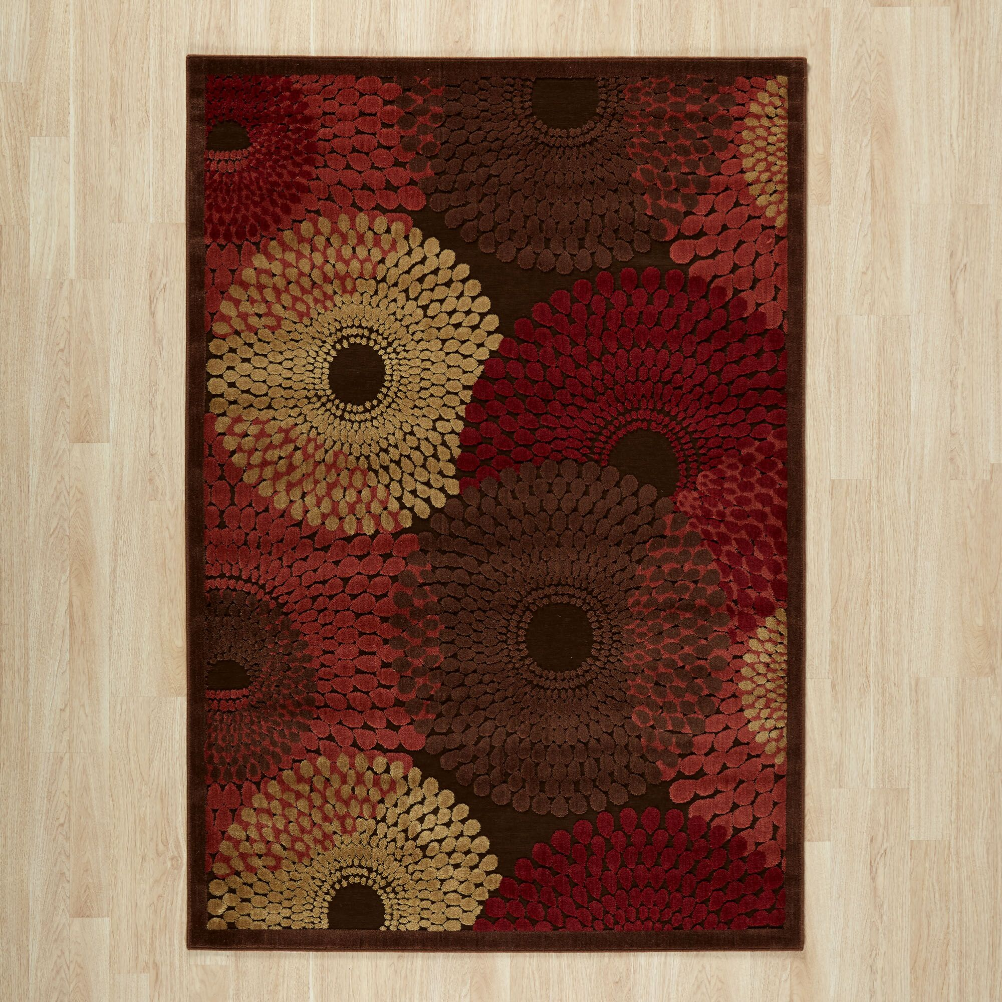 Brown/Red Area Rug Rug Size: 3'6