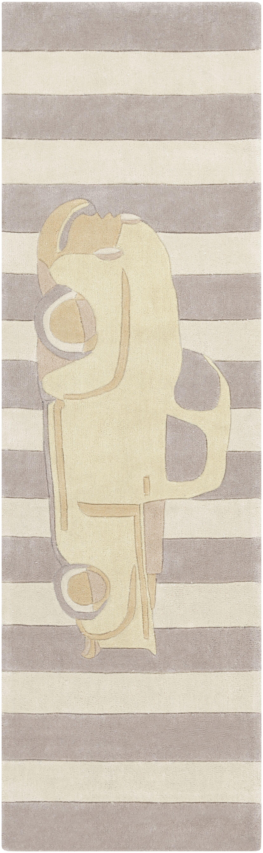 Cherish Hand-Tufted Beige/Brown Area Rug Rug Size: Runner 2'6
