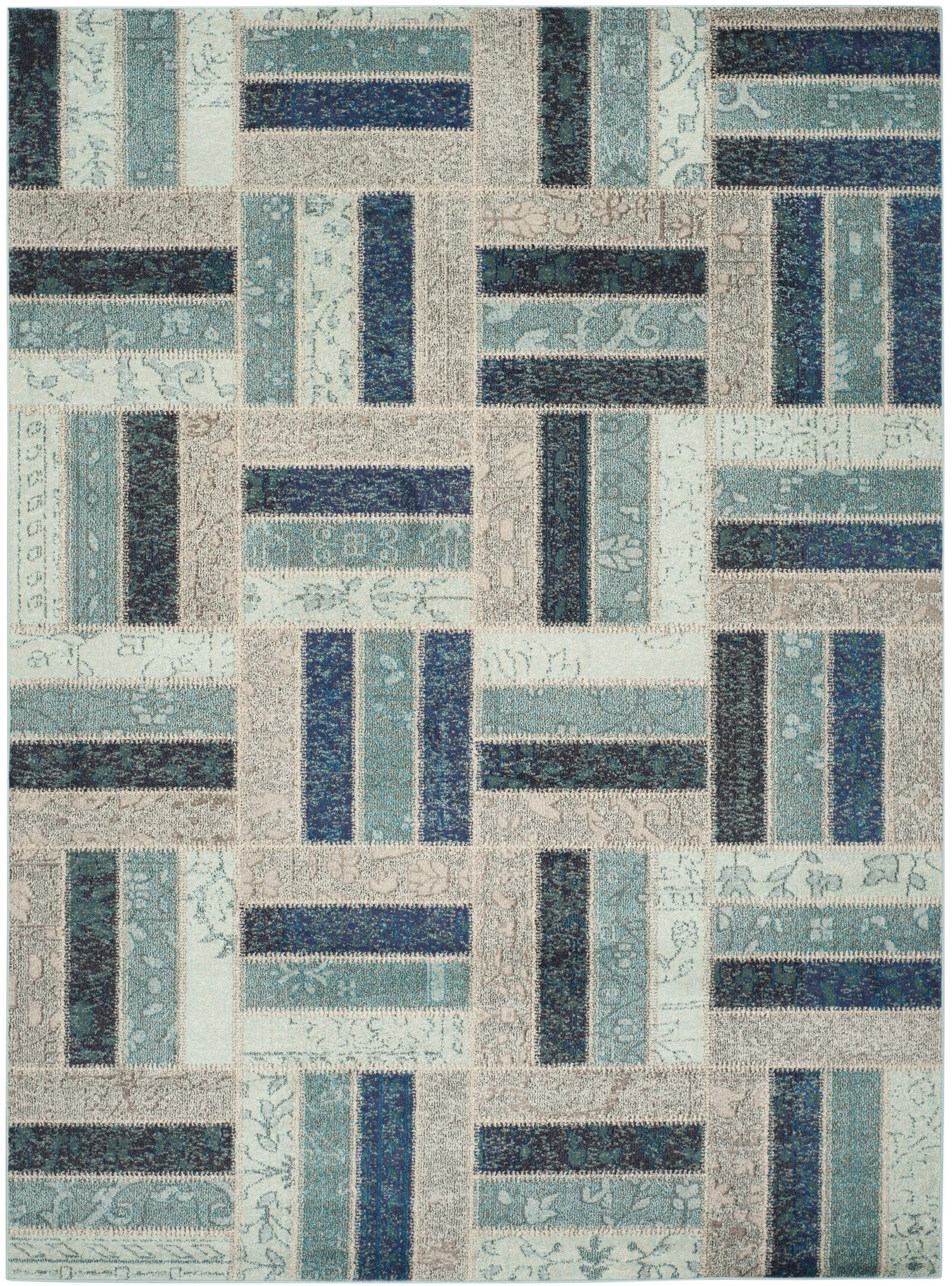 Mercado Gray/Blue Area Rug Rug Size: Rectangle 8' x 11'