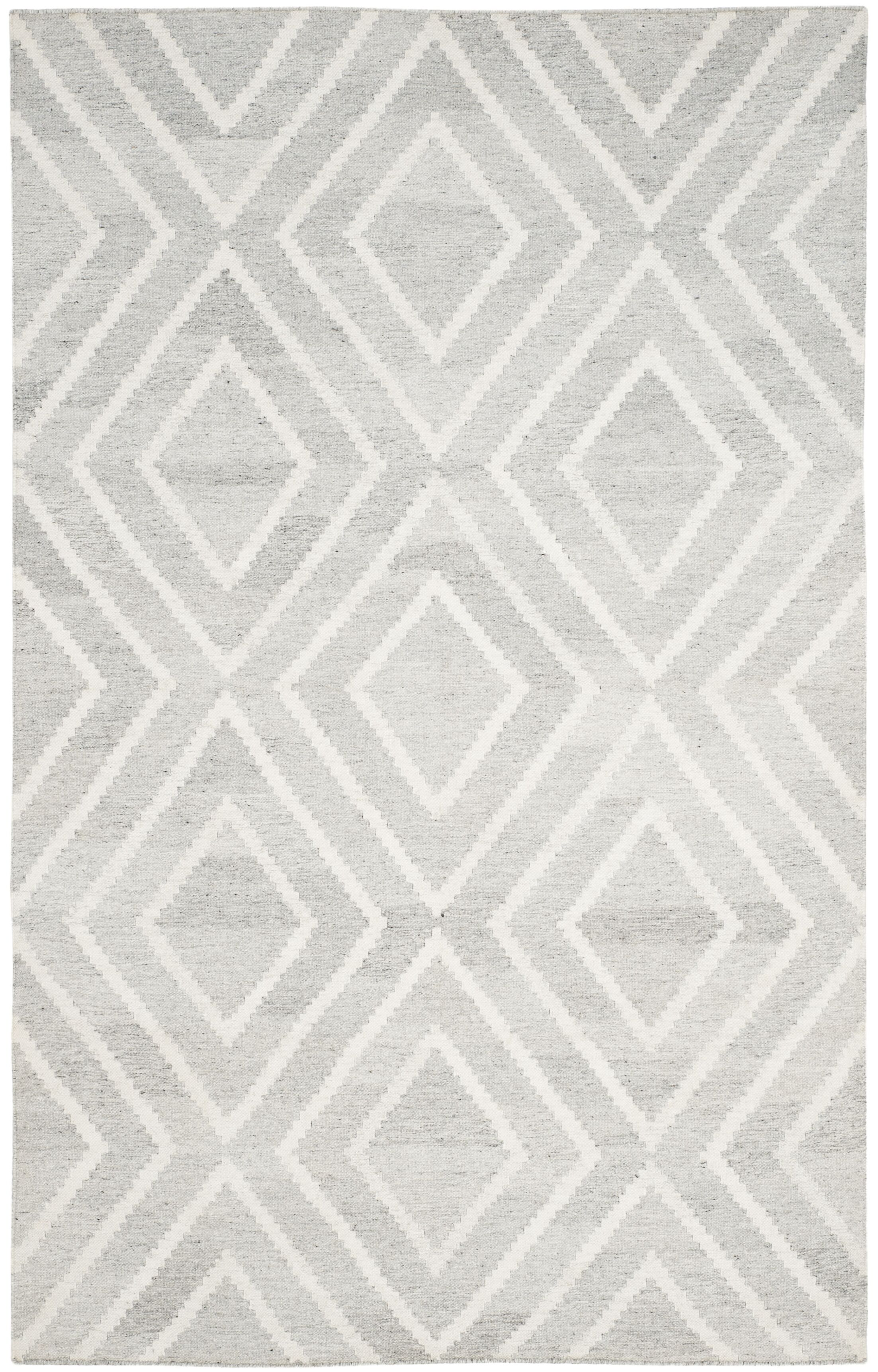 Mata Hand Woven Wool Gray/Ivory Area Rug Rug Size: Rectangle 5' x 8'