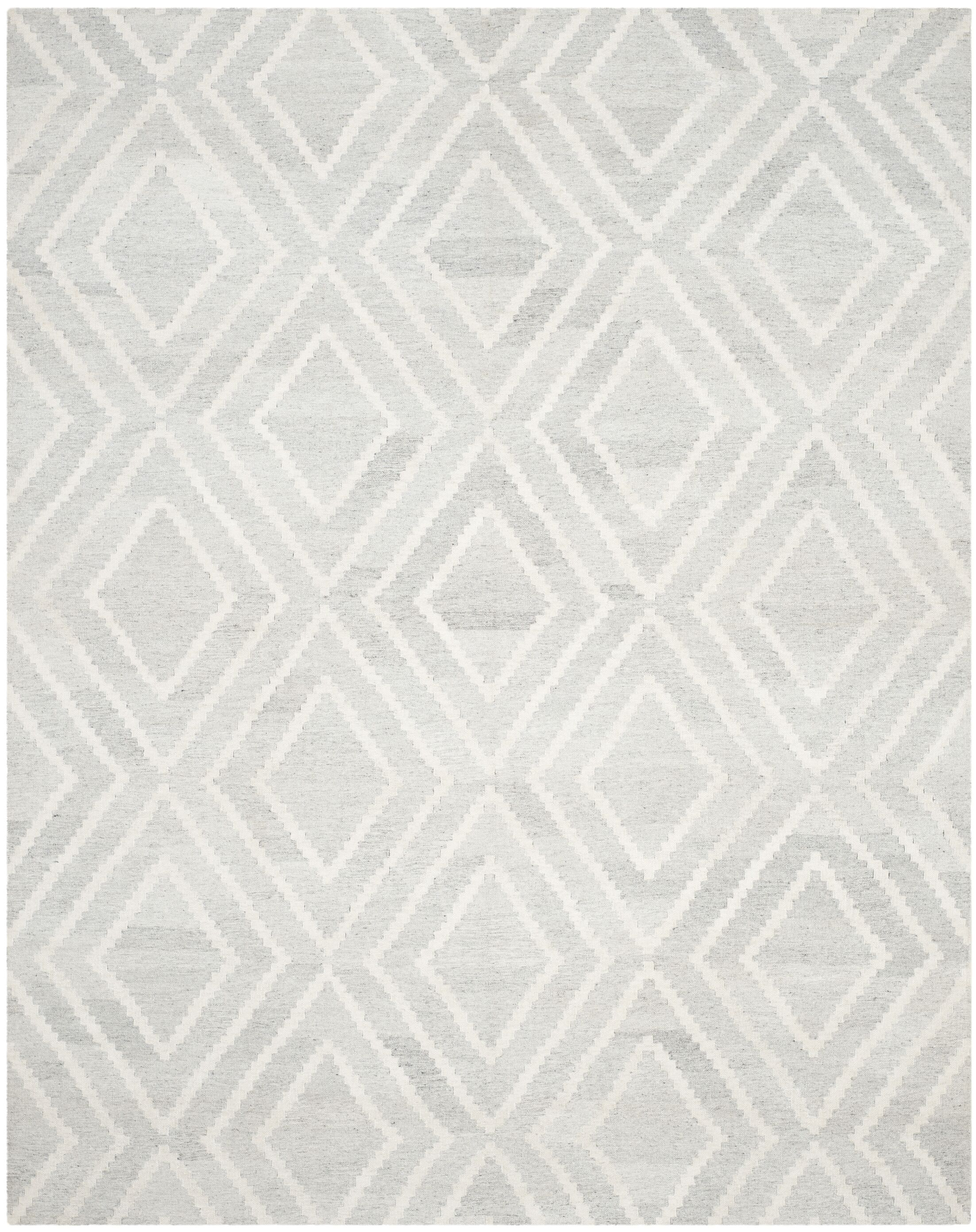 Mata Hand Woven Wool Gray/Ivory Area Rug Rug Size: Rectangle 8' x 10'
