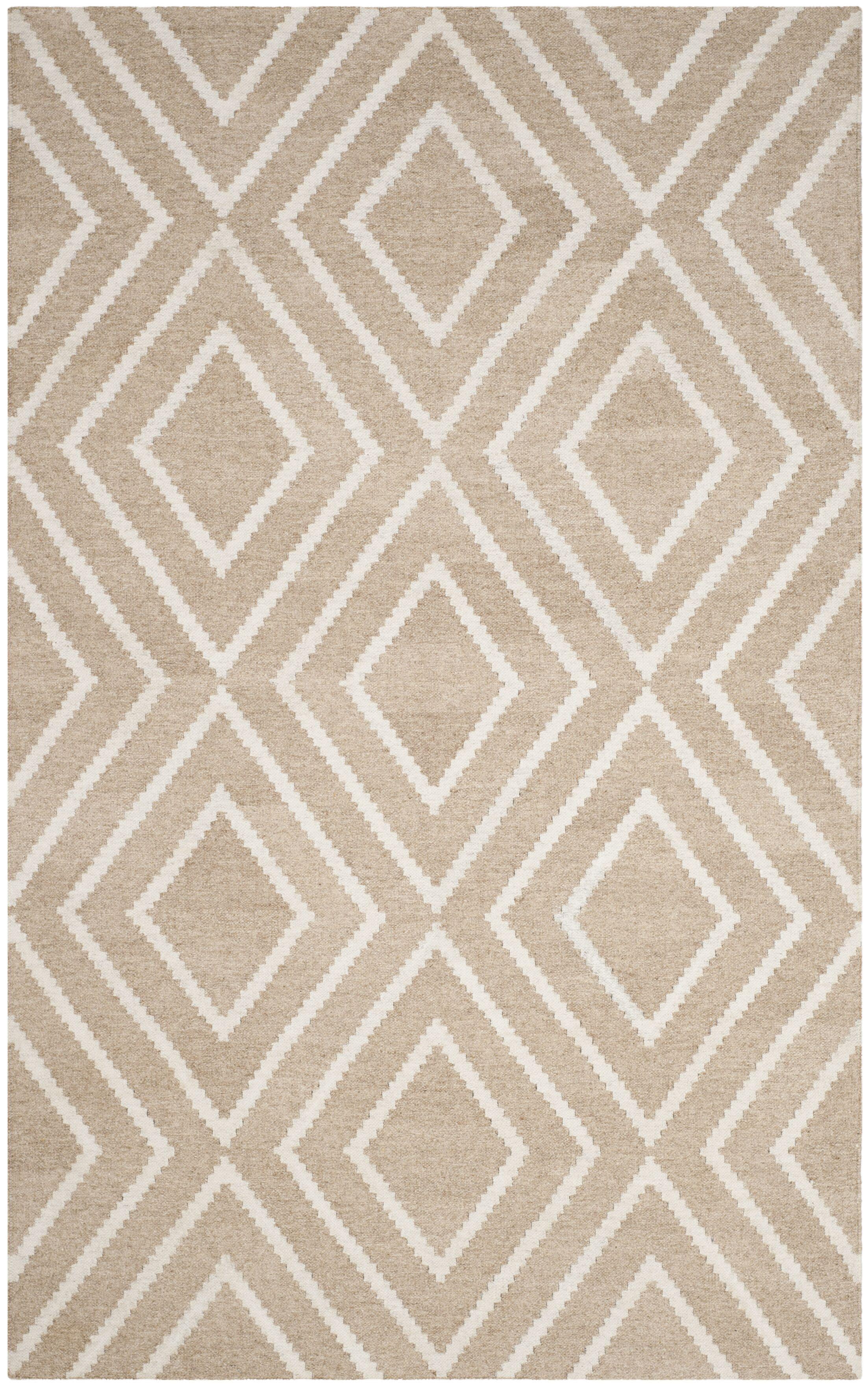 Mata Kilim Ivory & Beige Area Rug Rug Size: Rectangle 5' x 8'