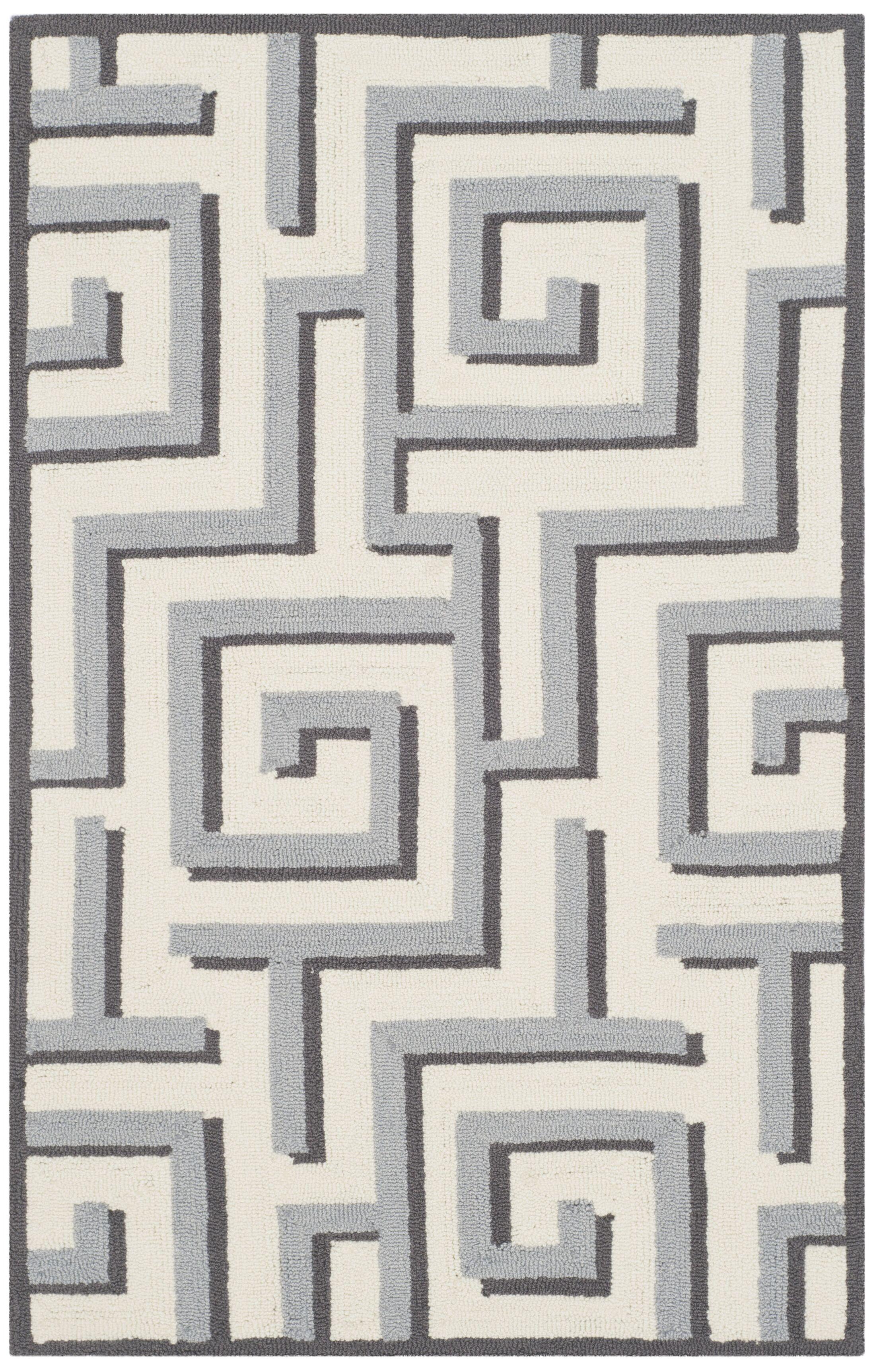 Naya Ivory/Gray Indoor/Outdoor Area Rug Rug Size: Rectangle 8' x 10'