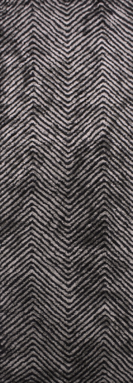 Nasir Hand-Woven Black Area Rug Rug Size: Runner 2'6