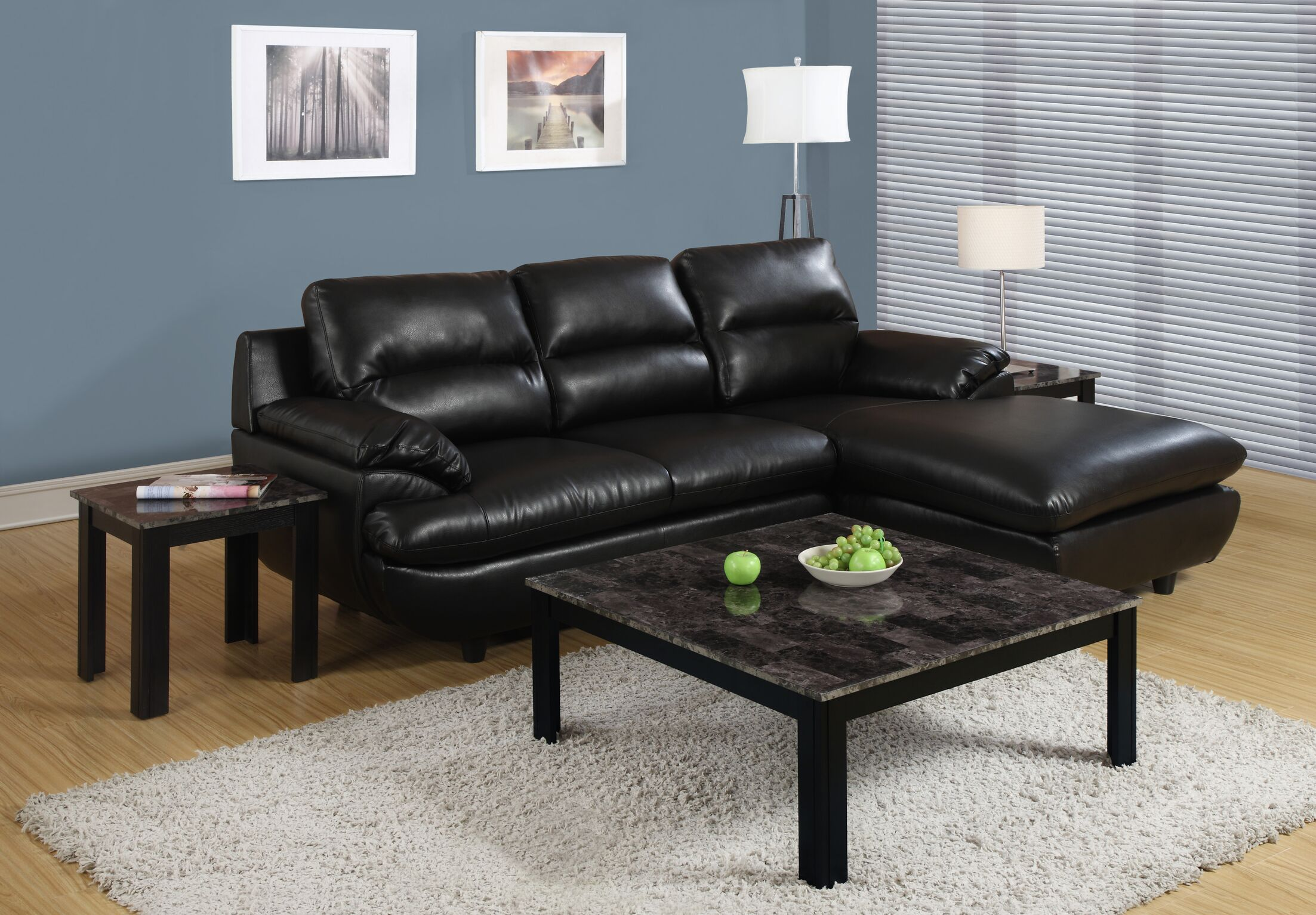 Willington 3 Piece Coffee Table Set Color: Black / Grey
