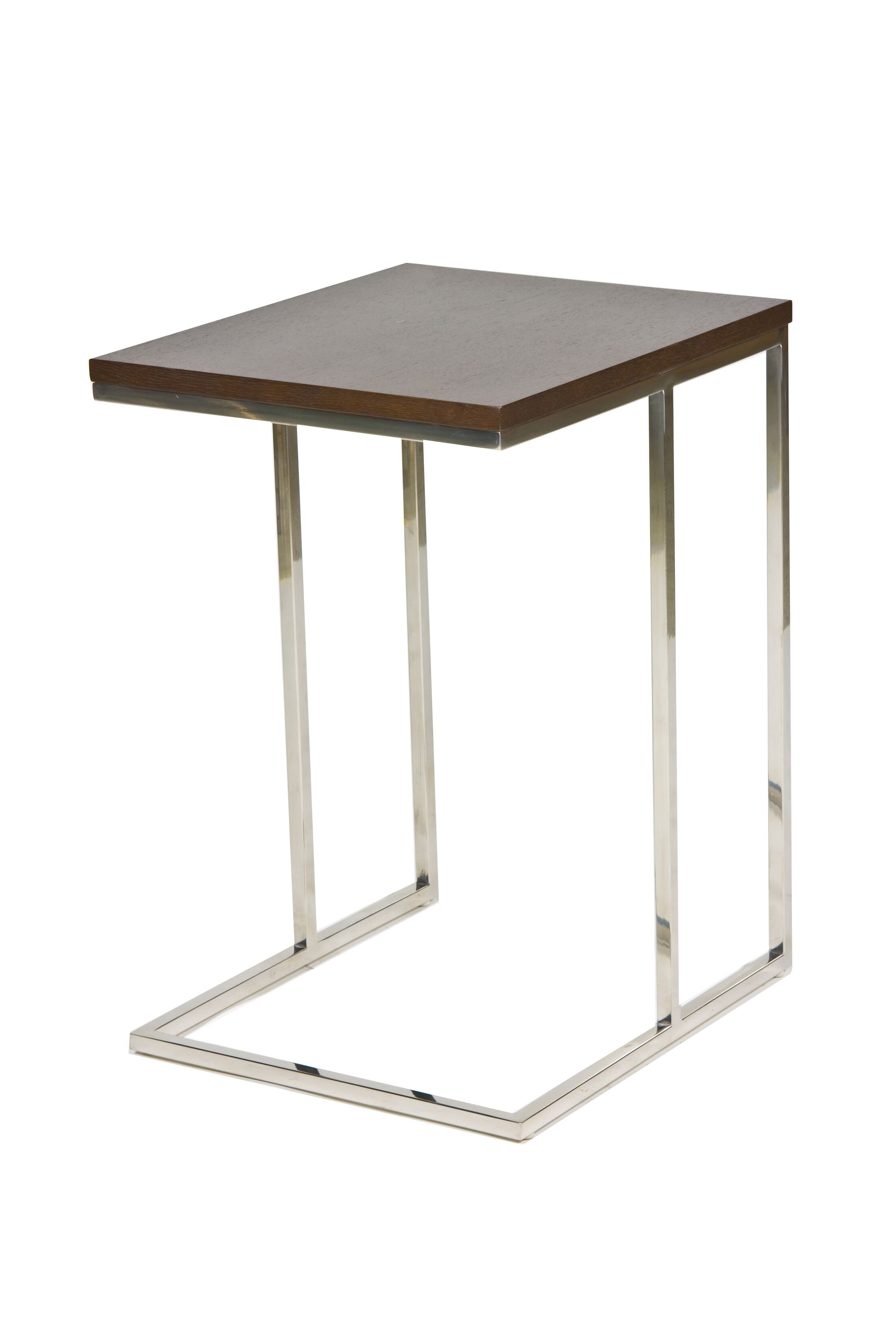 Cashin End Table Table Base Color: Silver, Table Top Color: Espresso