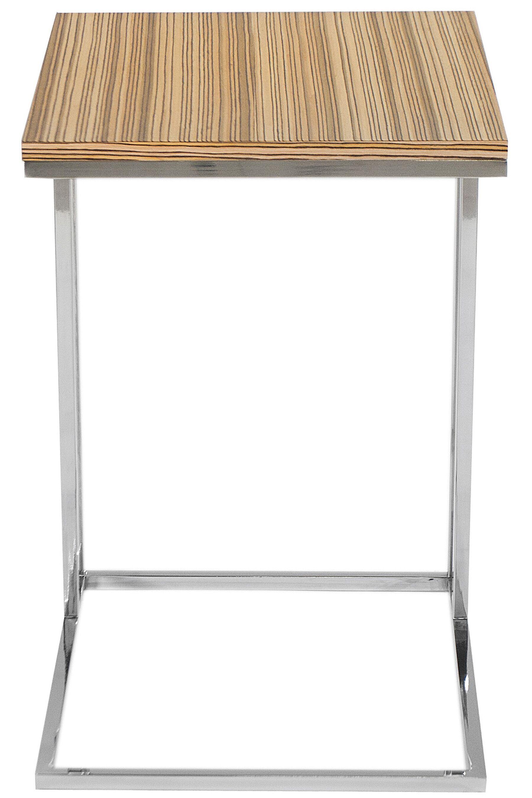 Cashin End Table Table Base Color: Silver, Table Top Color: Walnut