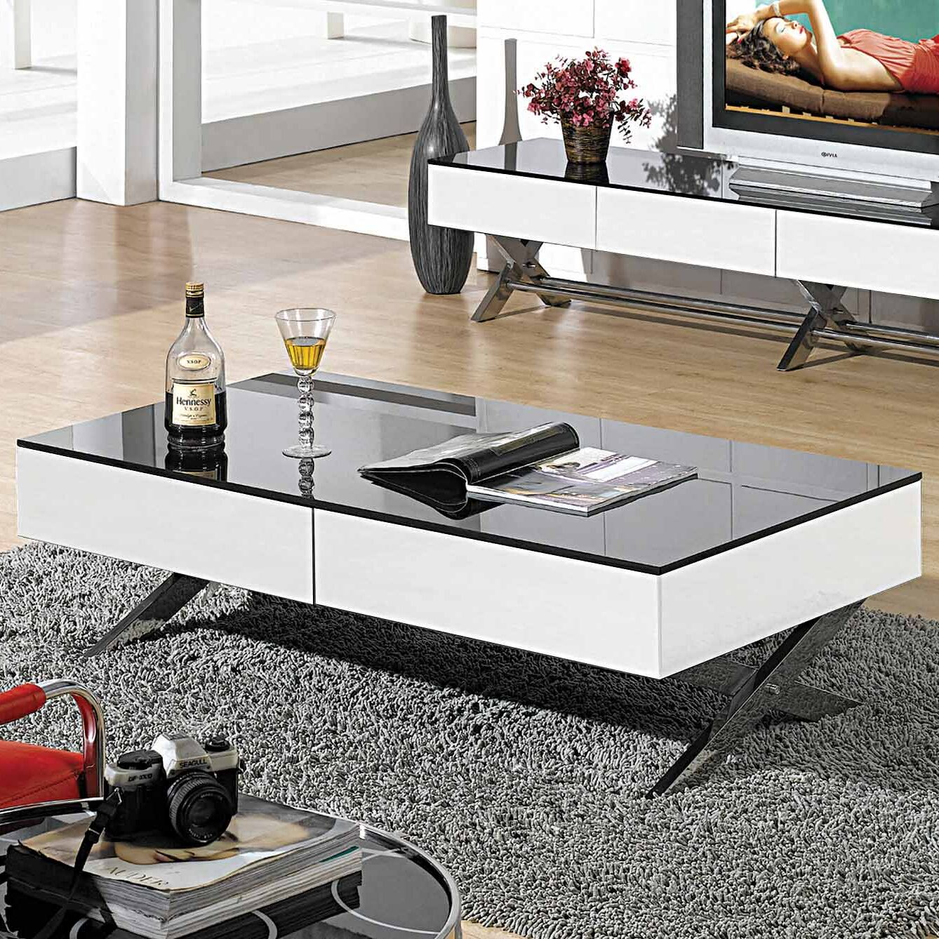 Garry Coffee Table Base Color: White