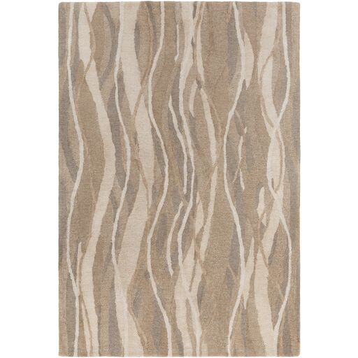 Aurora Hand-Tufted Neutral Area Rug Rug Size: Rectangle 2' x 3'