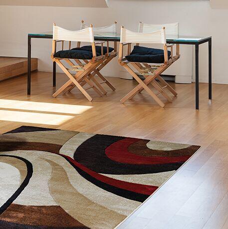Giannini Brown/Beige Area Rug Rug Size: Rectangle 6'7