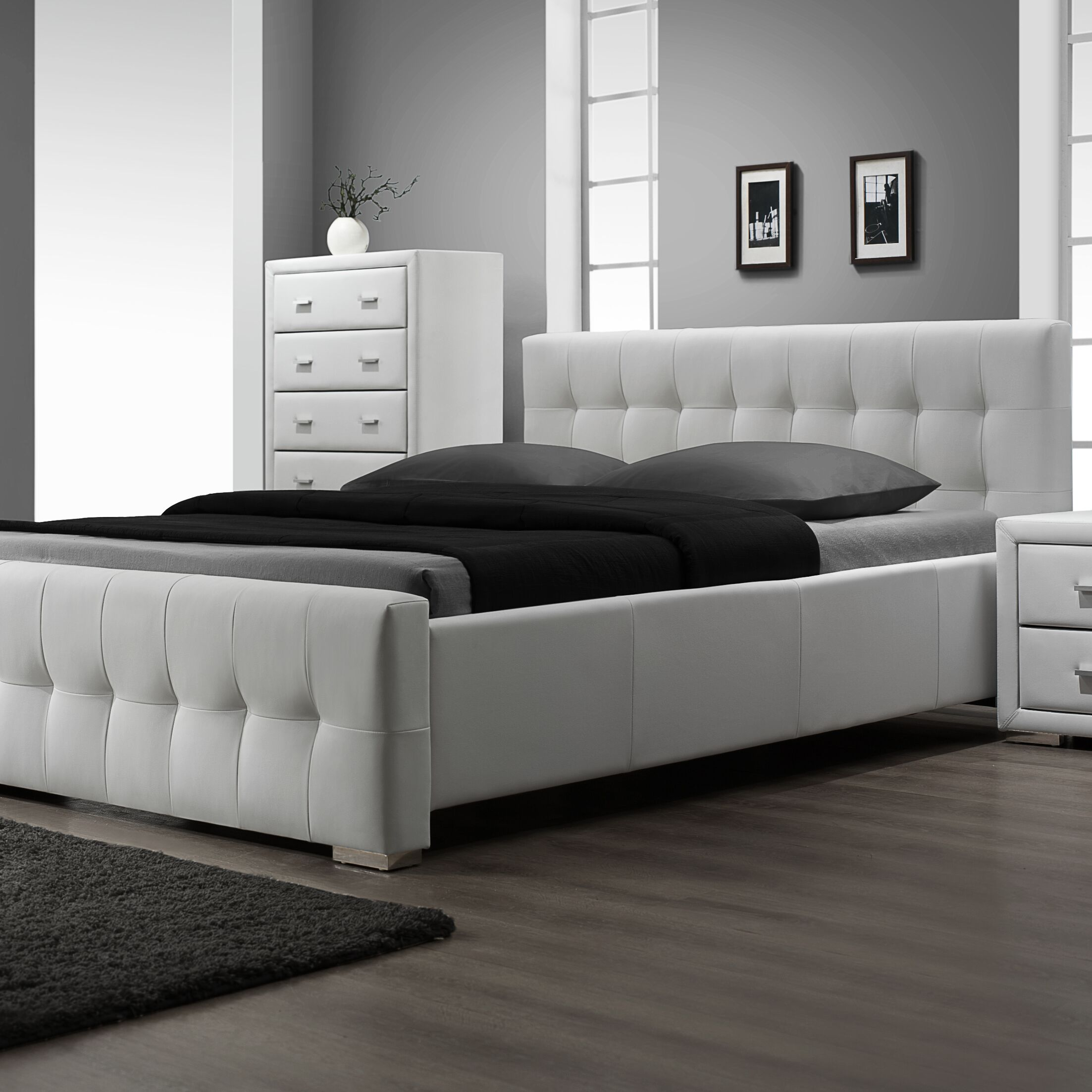 Bollman Upholstered Storage Platform Bed Size: King