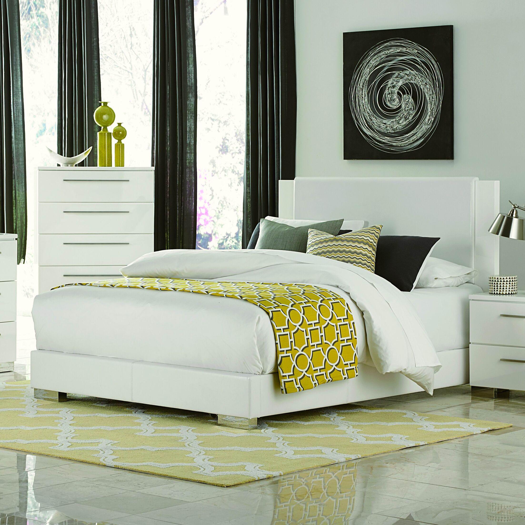 Conway Upholstered Platform Bed Size: King