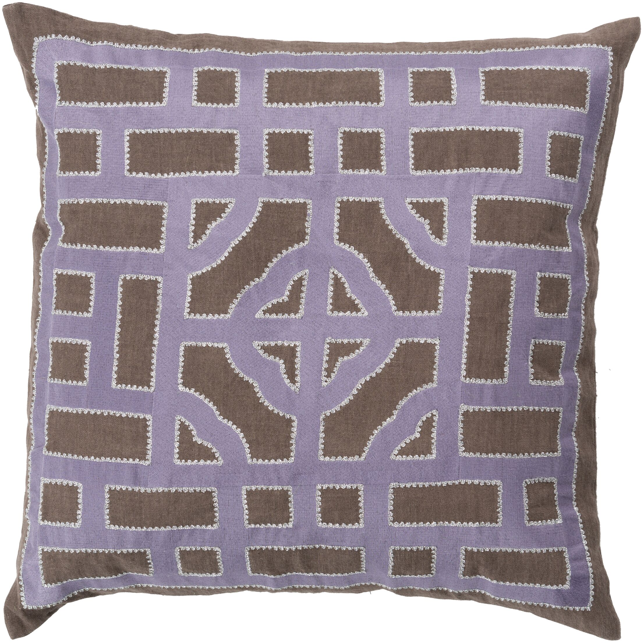 Watson Polyester Throw Pillow Color: Taupe/Mauve, Size: 20