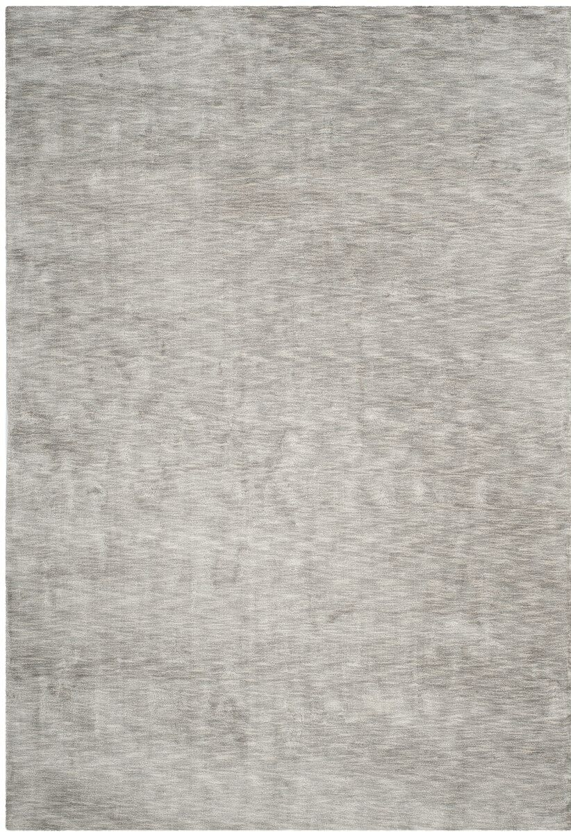 Guy Hand-Loomed Gray Area Rug Rug Size: Rectangle 6' x 9'