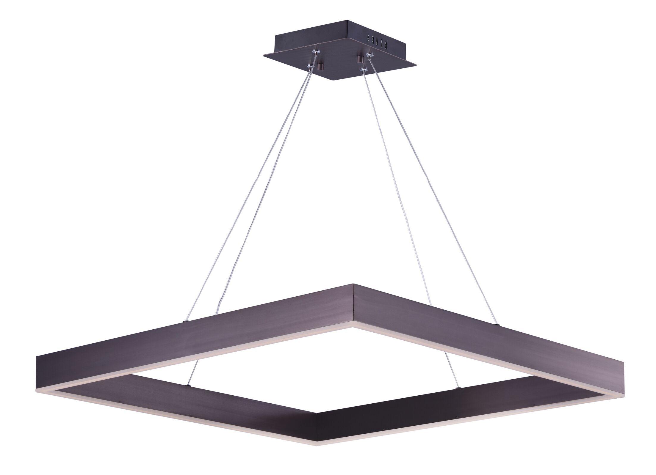 Acamar 2-Light LED Geometric Chandelier